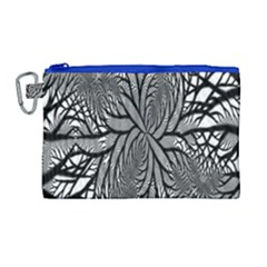 Fractal Symmetry Pattern Network Canvas Cosmetic Bag (large)