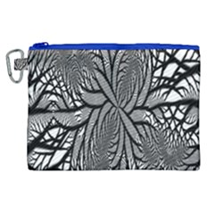 Fractal Symmetry Pattern Network Canvas Cosmetic Bag (xl)