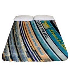 Bookcase Books Data Education Fitted Sheet (king Size)