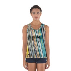 Bookcase Books Data Education Sport Tank Top