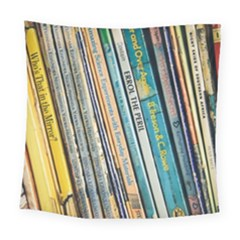 Bookcase Books Data Education Square Tapestry (large)