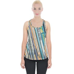 Bookcase Books Data Education Piece Up Tank Top