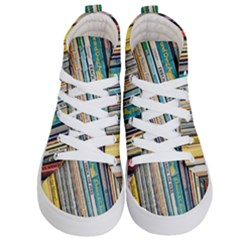 Bookcase Books Data Education Kid s Hi Top Skate Sneakers