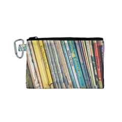 Bookcase Books Data Education Canvas Cosmetic Bag (small)