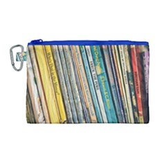 Bookcase Books Data Education Canvas Cosmetic Bag (large)