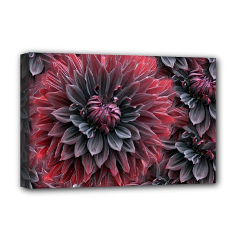 Flower Fractals Pattern Design Creative Deluxe Canvas 18  X 12