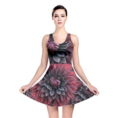 Flower Fractals Pattern Design Creative Reversible Skater Dress