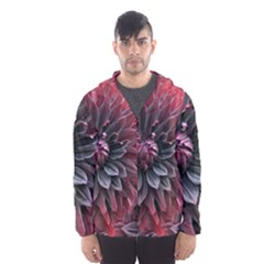 Flower Fractals Pattern Design Creative Hooded Wind Breaker (men)