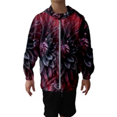 Flower Fractals Pattern Design Creative Hooded Wind Breaker (kids)