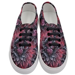 Flower Fractals Pattern Design Creative Women s Classic Low Top Sneakers