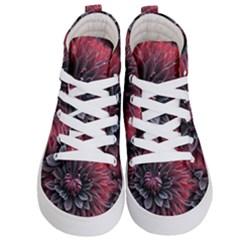 Flower Fractals Pattern Design Creative Kid s Hi Top Skate Sneakers