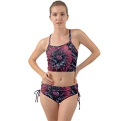 Flower Fractals Pattern Design Creative Mini Tank Bikini Set