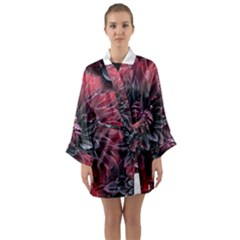Flower Fractals Pattern Design Creative Long Sleeve Kimono Robe