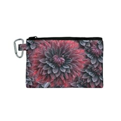 Flower Fractals Pattern Design Creative Canvas Cosmetic Bag (small)