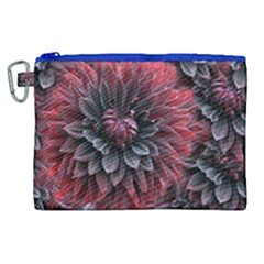 Flower Fractals Pattern Design Creative Canvas Cosmetic Bag (xl)