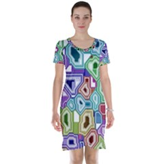 Board Interfaces Digital Global Short Sleeve Nightdress