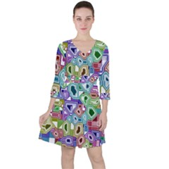 Board Interfaces Digital Global Ruffle Dress