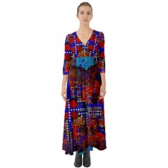 Board Interfaces Digital Global Button Up Boho Maxi Dress