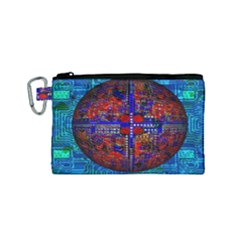 Board Interfaces Digital Global Canvas Cosmetic Bag (small)