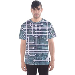 Board Circuit Control Center Men s Sports Mesh Tee