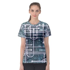 Board Circuit Control Center Women s Sport Mesh Tee
