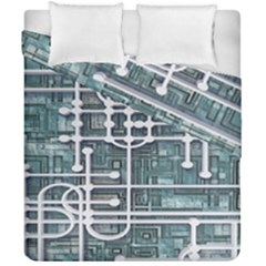 Board Circuit Control Center Duvet Cover Double Side (california King Size)