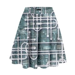Board Circuit Control Center High Waist Skirt
