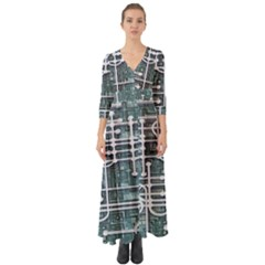 Board Circuit Control Center Button Up Boho Maxi Dress