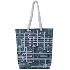 Board Circuit Control Center Full Print Rope Handle Tote (small)