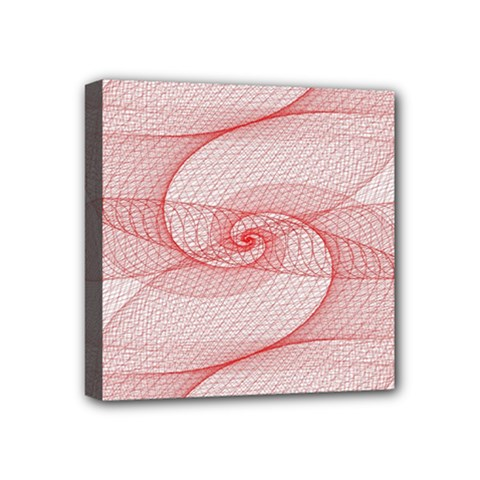 Red Pattern Abstract Background Mini Canvas 4  X 4