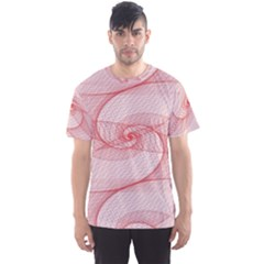 Red Pattern Abstract Background Men s Sports Mesh Tee
