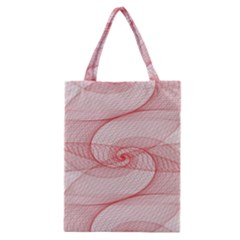 Red Pattern Abstract Background Classic Tote Bag