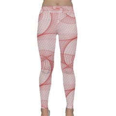 Red Pattern Abstract Background Classic Yoga Leggings