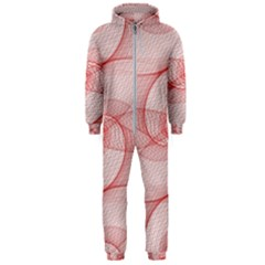 Red Pattern Abstract Background Hooded Jumpsuit (men)