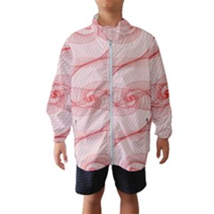 Red Pattern Abstract Background Wind Breaker (kids)