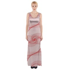 Red Pattern Abstract Background Maxi Thigh Split Dress