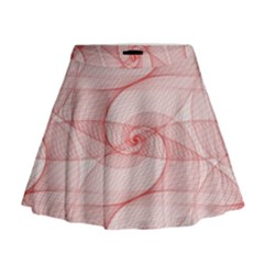 Red Pattern Abstract Background Mini Flare Skirt