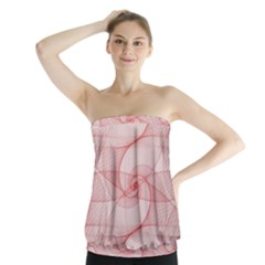 Red Pattern Abstract Background Strapless Top