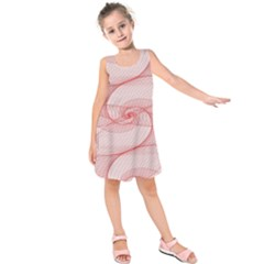 Red Pattern Abstract Background Kids  Sleeveless Dress