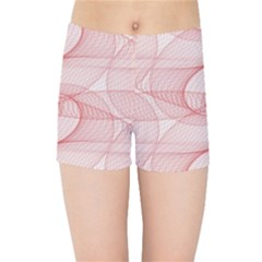 Red Pattern Abstract Background Kids Sports Shorts