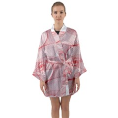 Red Pattern Abstract Background Long Sleeve Kimono Robe