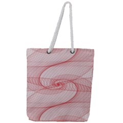 Red Pattern Abstract Background Full Print Rope Handle Tote (large)