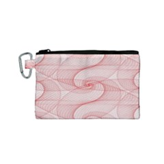 Red Pattern Abstract Background Canvas Cosmetic Bag (small)