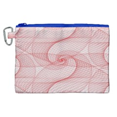 Red Pattern Abstract Background Canvas Cosmetic Bag (xl)