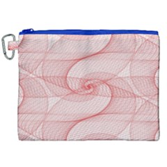 Red Pattern Abstract Background Canvas Cosmetic Bag (xxl)