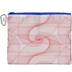 Red Pattern Abstract Background Canvas Cosmetic Bag (xxxl)