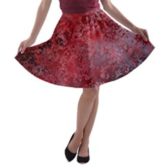 Background Texture Structure A Line Skater Skirt