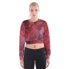 Background Texture Structure Cropped Sweatshirt