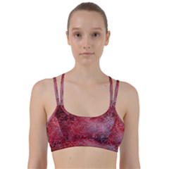 Background Texture Structure Line Them Up Sports Bra