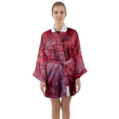 Background Texture Structure Long Sleeve Kimono Robe